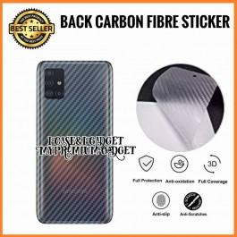 Samsung Galaxy A10, A20, A30, A50, A51  3D Anti Fingerprint Back Carbon Fiber Sticker Film