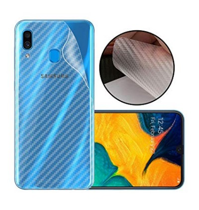 Samsung Galaxy A10, A20, A30, A50 Back Carbon Fiber Sticker Protection