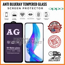 [FULL COVER] Realme C1/A3S/A12e, C2/A1K, C3/5/5i/5S/6i, C11, C12, 3 Pro, 5 Pro 5D/9D AG Matte Anti Blue Ray Full Glue Gaming Tempered Glass