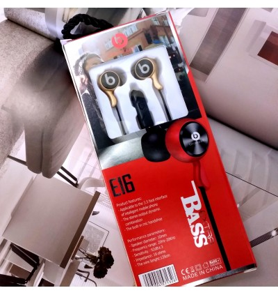 Beats Audio E16 Extra Bass Wired With Mic For Android/Tablet/iPhone/Pc