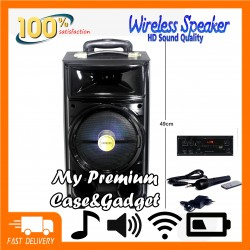 Big Portable Bluetooth Speaker SUPER BASS BK-800 With Microphone/AUX/USB/TF Card/Bluetooth/FM