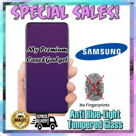 Samsung Galaxy A10, A20, A30, A50 Matte Anti Fingerprint With Anti Blue Ray Tempered Glass Screen Protector