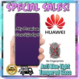 Huawei P30 Matte Anti Fingerprint With Anti Blue Ray Tempered Glass Screen Protector