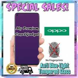 Oppo Realme C2 Matte Anti Fingerprint With Anti Blue Ray Tempered Glass Screen Protector
