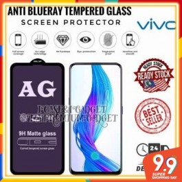 [FULL COVER] Vivo S1, S1 Pro 5D/9D AG Matte Anti Blue Ray Full Glue Gaming Tempered Glass