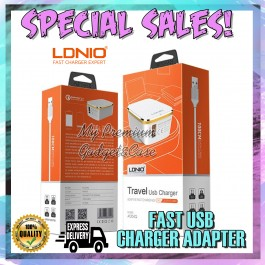 LDNIO A1204Q Auto-ID Adaptive Fast Charging Qualcomm QC 3.0 Charger For Android/Tablet Free USB Cable