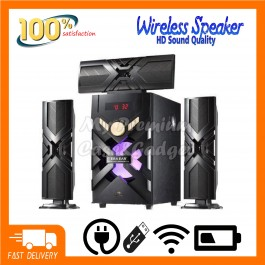 Speaker DJACK ERA EAR E-13 Speaker 60W Home Theater Super Bass System 3.1 Support USB / FM Radio / Bluetooth