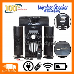 Speaker Panmic Powerful 3.1 X-Bass Bluetooth Home Theatre Super Bass System - PN-23 Support USB/TF Card/Blueooth