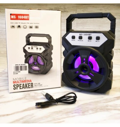 Portable Wireless Speaker MS-1604BT Bluetooth With FM radio USB/TF/AUX/BT Mini MP3 Clear Sound Super Bass