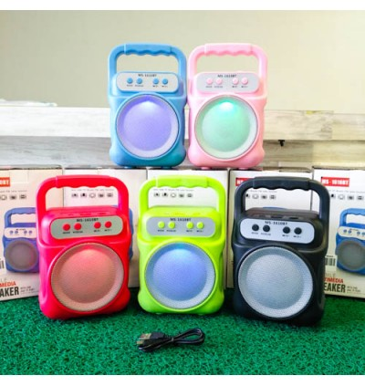 Colorful Wireless Speaker With LED MS-1610 Bluetooth With FM radio USB/TF/AUX/BT Mini MP3 Clear Sound Super Bass