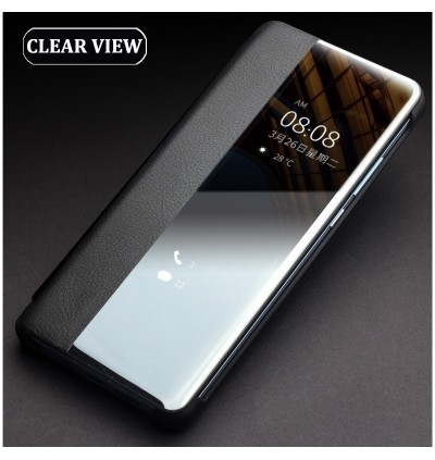 Huawei Mate 30, Mate 30 Pro/Mate 30 Pro Smart Clear View Touch Luxury Sensor Leather Flip Case