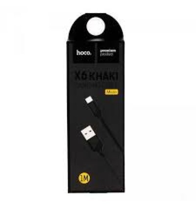 HOCO X6 Khaki Micro USB Charge Charging Data Sync Cable