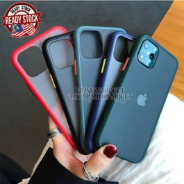 iPhone X/XS, XR, XS Max, 11, 11 Pro, 11 Pro Max, 12, 12 Pro, 12 Pro Max Luxury Matte Transparent Shockproof Hybrid Silicone PC Hard Case