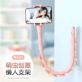 Portable Desktop Car Mount Worm Lazy Holder Flexible Stand Octopus Bracket Phone