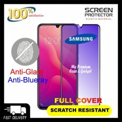 Samsung Galaxy J6 2018 5D Full Cover Matte Anti Blue Ray Tempered Glass