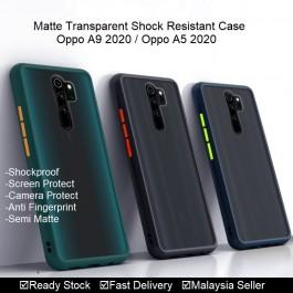 Oppo A1K ,A3S ,A37 ,A5S , A5, A9 2020 Matte Transparent Soft TPU Edge Hard Case