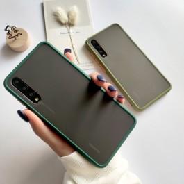 Vivo S1 Pro, Y17, Y19 Matte Transparent Soft TPU Edge Hard Case