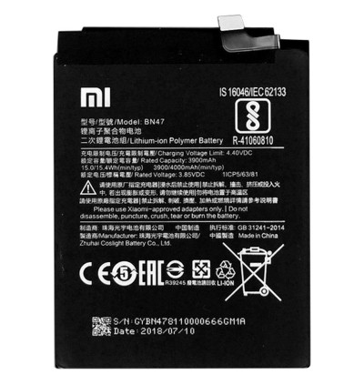 [100% FULL CAPACITY] Battery Xiaomi Mi A2 Lite, Note, Max 2, Pocophone F1 BM21 BM4E BM49 BM50 BN47 High Quality Replacement Spareparts