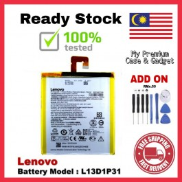 [100% FULL CAPACITY] Battery Lenovo A3300 A5000 A5500 Tab 2/A7-30 Tab 3 7.0/TB3-710L S5000 BL234 L12D1P31 L13D1P31 High Quality Replacement Spareparts