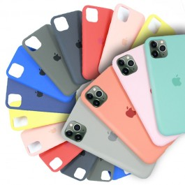 Full Coverage iPhone 7/8 Plus Candy Color Casing Liquid Silicone Rubber Premium Case