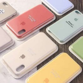 Full Coverage iPhone 11 Pro Max Candy Color Casing Liquid Silicone Rubber Premium Case