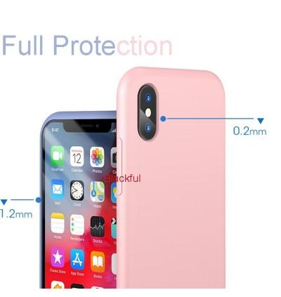 iPhone X/XS Candy Color Casing Liquid Silicone Rubber Premium Case