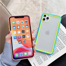 iPhone 6/6S,7/8/SE 2020,7Plus/8Plus,X/XS,11,11Pro,11ProMax Contrast Color Stylish Glass Luxury TPU + Acrylic Sleeve Protective Cover