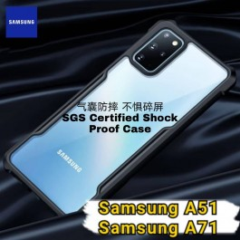 Samsung Galaxy A11, A51 , A71 ,S20 Plus Shockproof Military Grade Rugged Full Protection Armor Transparent Case Like XUNDD