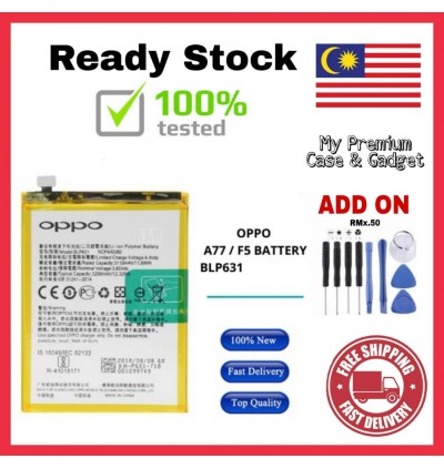 [100% FULL CAPACITY] Battery Oppo F5/A77, F7, F7 Youth, F9/R17, F11 Pro BLP631 BLP661 BLP665 BLP681 BLP697 High Quality Replacement Spareparts Add-On Tools