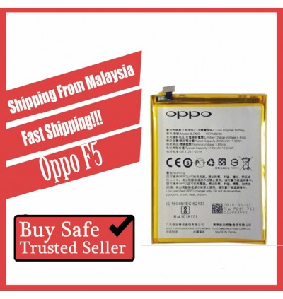 [100% FULL CAPACITY] Battery Oppo F5, F7, F7 Youth, F9 High Quality Replacement Spareparts