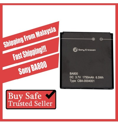 [100% FULL CAPACITY] Battery Sony Ericsson BA600, BA700, BA750, BA800 High Quality Replacement Spareparts