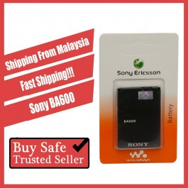 [100% FULL CAPACITY] Battery Sony Ericsson BA600, BA700, BA750, BA800 High Quality Replacement Spareparts