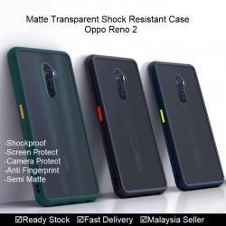 Oppo Reno, Reno 2, Reno 2F Matte Transparent Soft TPU Edge Hard Case