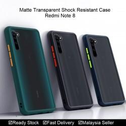 Redmi 7A, Redmi Note 8 Matte Transparent Soft TPU Edge Hard Case