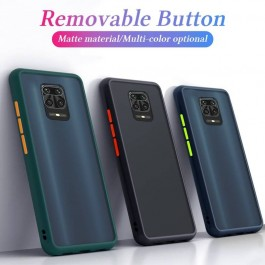 Redmi 7A, 8, 8A, Note 8, Note 9S Luxury Matte Transparent Shockproof Hybrid Silicone PC Hard Case