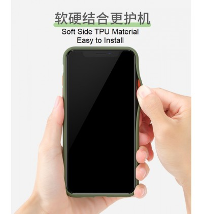 Huawei Nova 5t, Nova 7i Shockproof Matte Transparent Soft TPU Edge Hard Full Cover Case