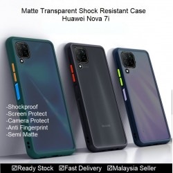 Huawei Nova 5t, Nova 7i Matte Transparent Soft TPU Edge Hard Case