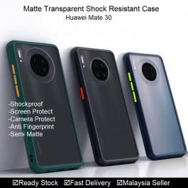 Huawei Mate 30, Mate 30 Pro Shockproof Matte Transparent Soft TPU Edge Hard Full Cover Case