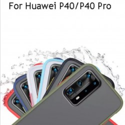 Huawei P40, P40 Pro Shockproof Matte Transparent Soft TPU Edge Hard Full Cover Case