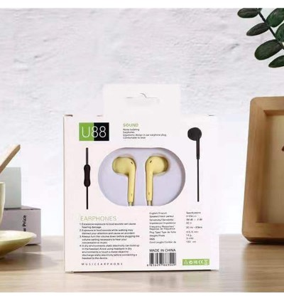 [NEW]Earbud Wired Earphone in-ear 3.5mm jack universal U88 High Quality High Safety Comfort