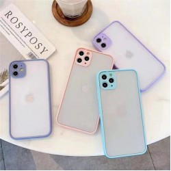 [FULL COVER] iPhone 11, 11 Pro, 11 Pro Max Shockproof Camera Lens Protection Case Luxury Transparent Matte PC Back Cover Case