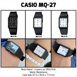 [100% ORIGINAL] Casio MQ-27-7E Black Resin Casual Men Watch Water Resistance MQ-277E / MQ27-7E / MQ277E