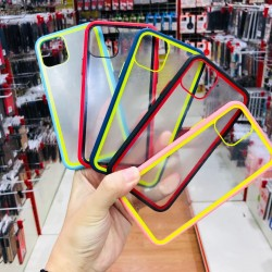 Oppo Realme C3/5/5i/5S/6i Rainbow Transparent Soft TPU Edge Hard Case
