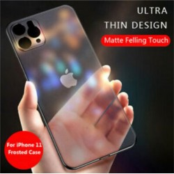 [FULL COVER] iPhone 6/6S, 7/8/SE 2020, 7 Plus/8 Plus, X/XS, XR, XS Max, 11, 11 Pro, 11 Pro Max Ultra Thin Soft TPU Transparent Matte Frosted Case
