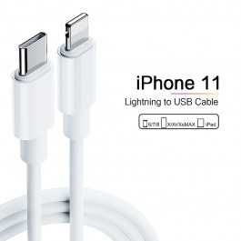 Apple USB-C / Type C To Lightning Cable (18W PD) Fast Charging & Daya Sync For iPhone 11, 11 Pro, 11 Pro Max