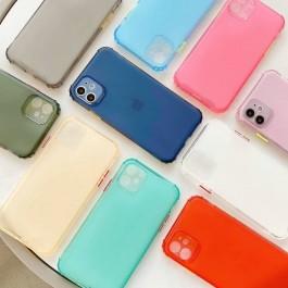 iPhone 7/8/SE 2020, 7 Plus/8 Plus, X/XS, XR, XS Max, 11, 11 Pro, 11 Pro Max Matte Transparent Colorful Rainbow Anti Crash Shockproof Full Cover Silicone Case