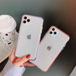 iPhone 11 Pro Colorful Anti Shockproof Transparent Soft Silicone Fashion Case