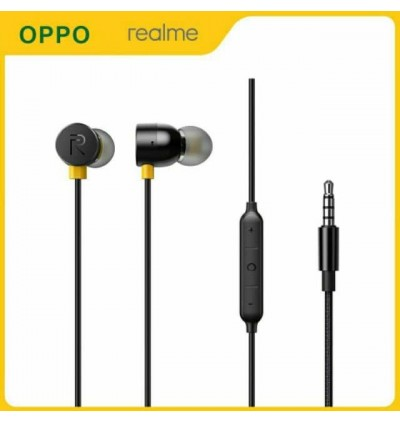 ORIGINAL Realme RMA155 Buds 3, R40 Earphones 3.5mm In Ear Jack Stereo Bass Sound With Mic
