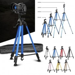 Tripod Stand 3366 FREE Bag & Phone Holder Portable Lightweight 50 Inch Aluminum Alloy Mount for Phone DSLR Camera Video