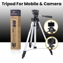 Tripod WT-330A Lightweight Portable Photography Tripod Aluminum Suitable for Nikon Canon Sony DSLR Camera or Phone (Free Mobile Holder + Bag )